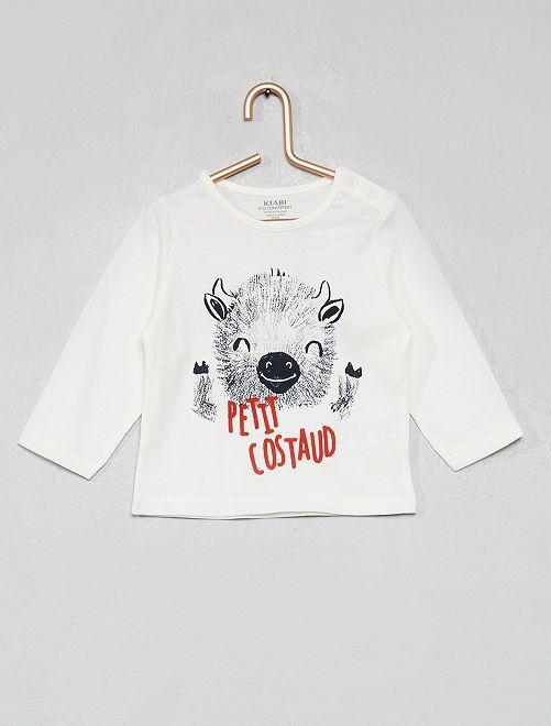 T-shirt coton bio                                                                                                                                                                                                     blanc/yack