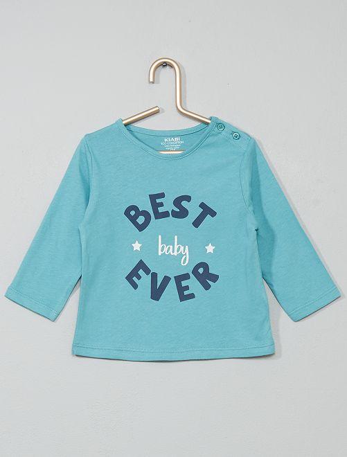 T-shirt coton bio                                                                                                                                                                                                     bleu/best