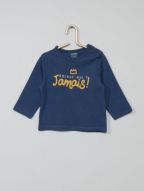 T-shirt coton bio                                                                                                                                                                 bleu/râleur