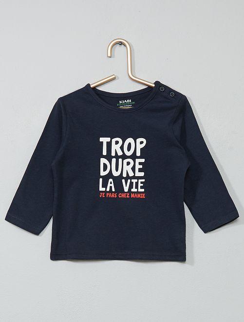 T-shirt coton bio                                                                                                                                                                                                     bleu/vie