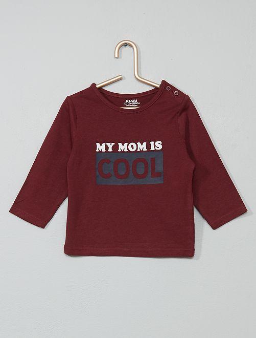 T-shirt coton bio                                                                                                                                                                                                     bordeaux/coll