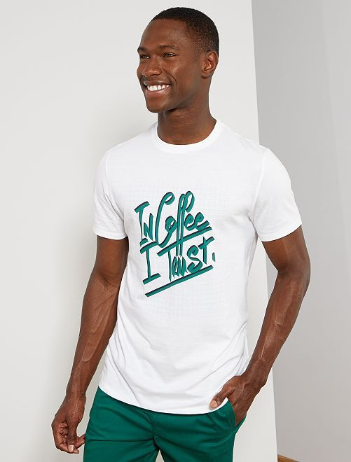 T-shirt coton bio 'éco-conception'                                                                                                                                                                                                                                                     blanc coffee