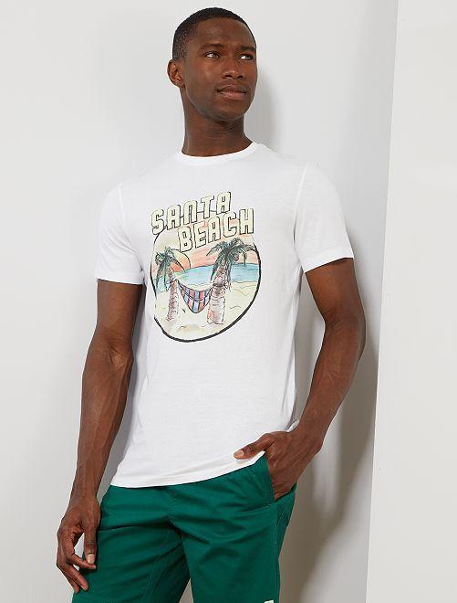 T-shirt coton bio 'éco-conception'                                                                                                                                                                                         blanc santa