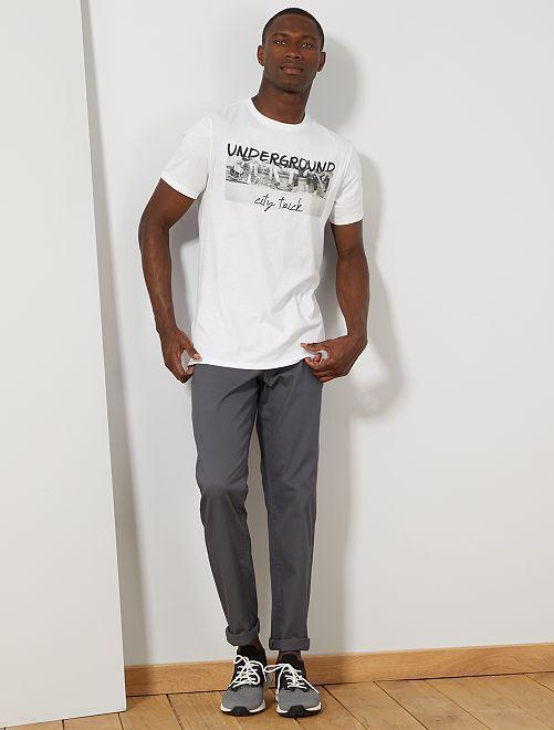 T-shirt coton bio 'éco-conception'                                                                                                                                                                                         blanc underground