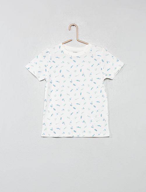 T-shirt 'éco-conception'                     blanc/surf