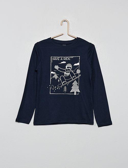 T-shirt coton bio 'éco-conception'                                                                                                                                         bleu foncé