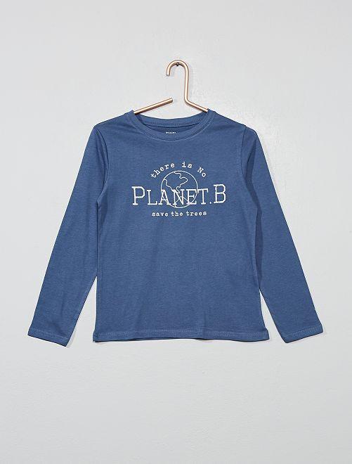 T-shirt coton bio 'éco-conception'                                                                                                                                 bleu