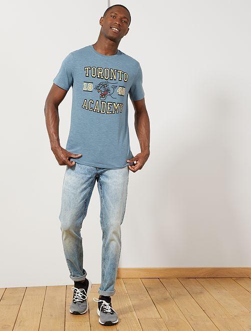 T-shirt coton bio 'éco-conception'                                                                                                                                         bleu gris toronto