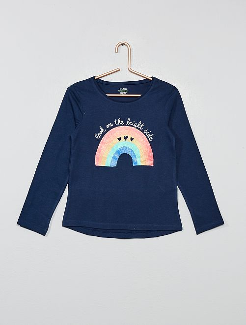 T-shirt coton bio 'éco-conception'                                                                                         bleu marine