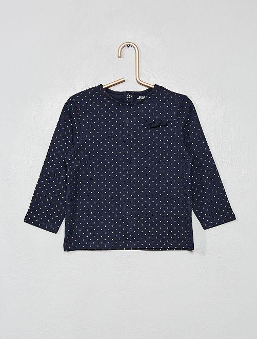 T-shirt coton bio 'éco-conception'                                                                                         bleu pois