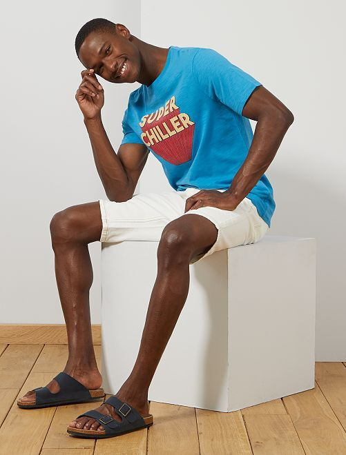 T-shirt coton bio 'éco-conception'                                                                                                                                         bleu turquoise chiller