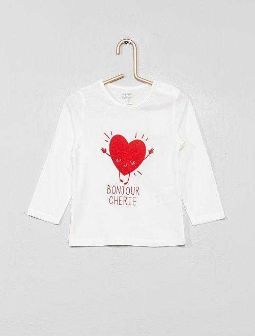 T-shirt coton bio 'éco-conception'                                                                                                                                                                             écru/cœur