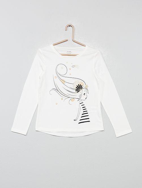 T-shirt coton bio 'éco-conception'                                                                                                                                                     écru/fille Fille
