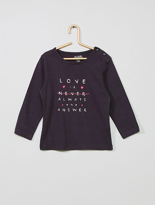 T-shirt coton bio 'éco-conception'                                                                                                                                                                 gris/love