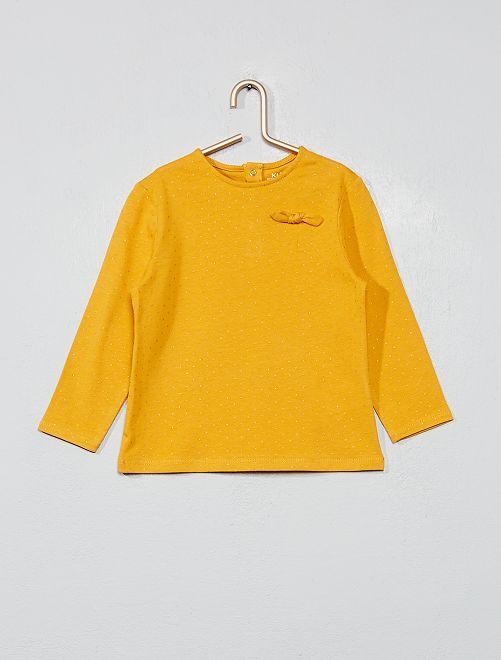 T-shirt coton bio 'éco-conception'                                                                 jaune pois