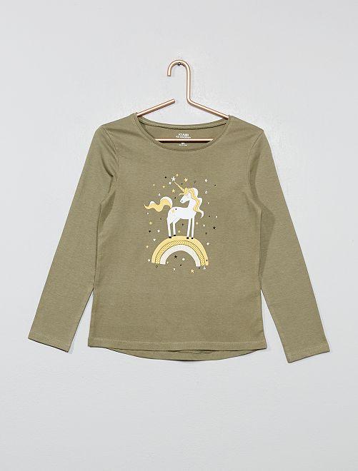 T-shirt coton bio 'éco-conception'                                                                                         kaki