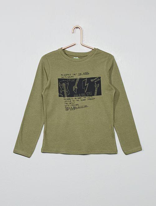 T-shirt coton bio 'éco-conception'                                                                                                                                                     kaki rock