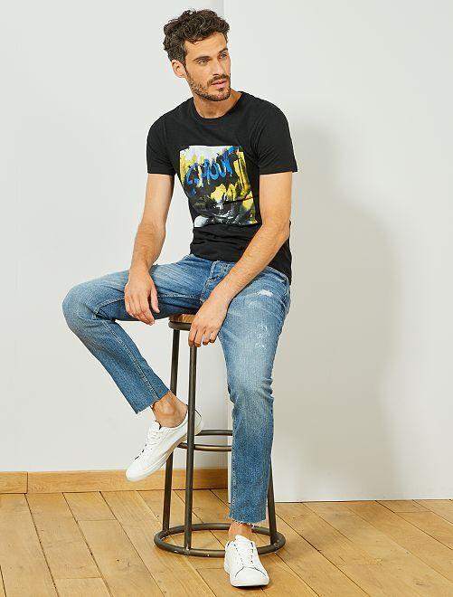 T-shirt coton bio 'éco-conception'                                                                                                     noir
