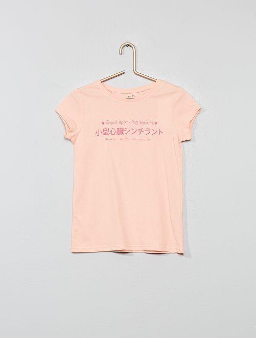 T-shirt coton bio 'éco-conception'                                                                                                                                                                 rose clair