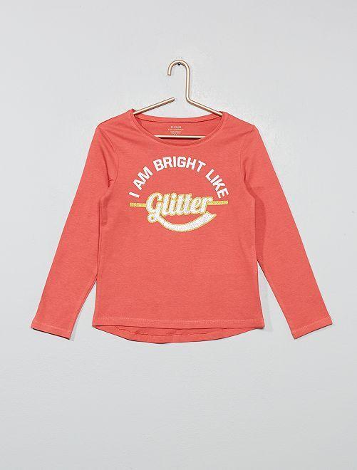 T-shirt coton bio 'éco-conception'                                                                                         rose foncé