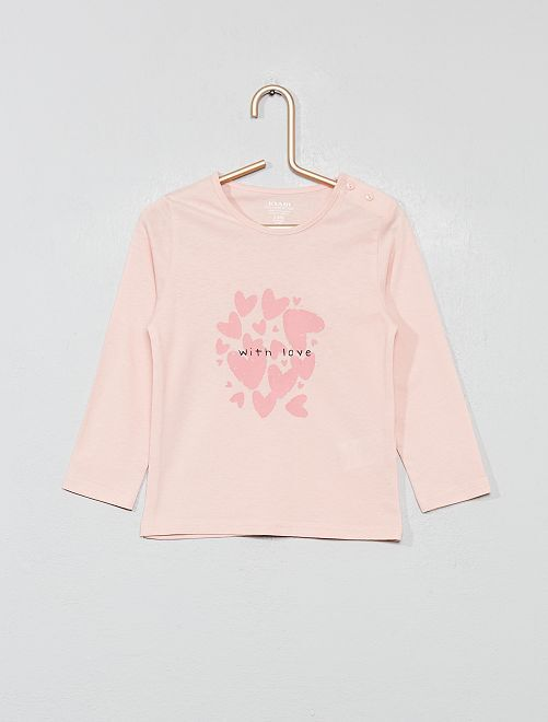 T-shirt coton bio 'éco-conception'                                                                                                                                                                                         rose love