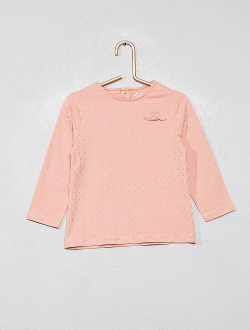 T-shirt coton bio 'éco-conception'                                                                                         rose pois