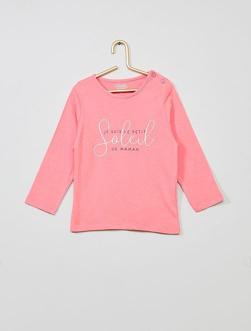 T-shirt coton bio 'éco-conception'                                                                                                                                                                                                     rose/soleil