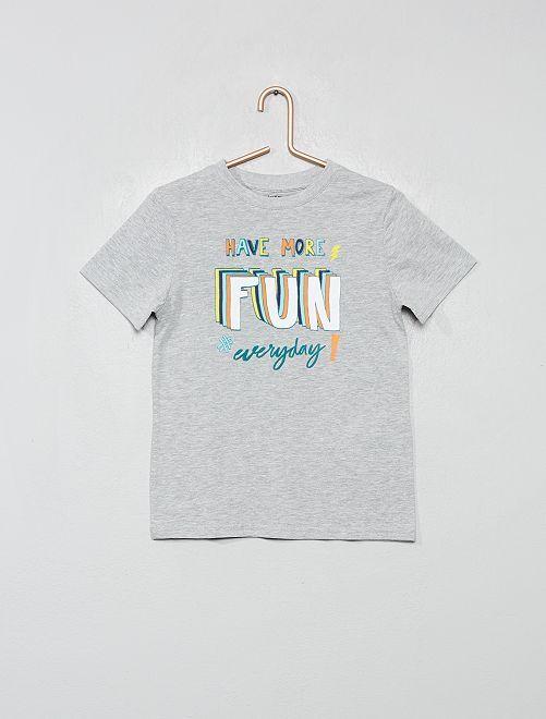 T-shirt coton bio                                                                                                                 gris/fun