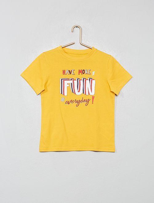 T-shirt coton bio                                                                                                                 jaune banane