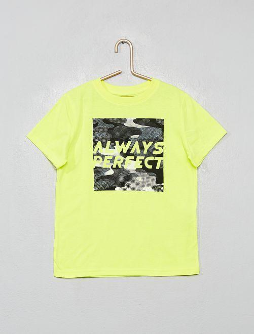 T-shirt coton bio                                                                                                                 jaune fluo