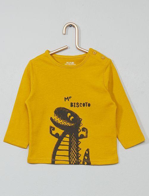 T-shirt coton bio                                                                                                                                                                                                     jaune/dino