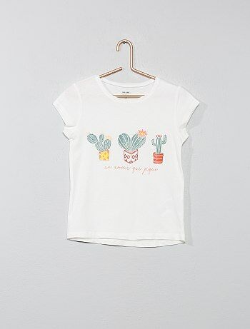abcff3a8225 T-shirt coton bio pailleté - Kiabi