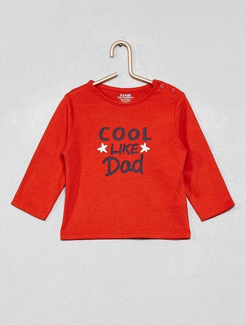 T-shirt coton bio                                                                                                                                                                                                     rouge/dad