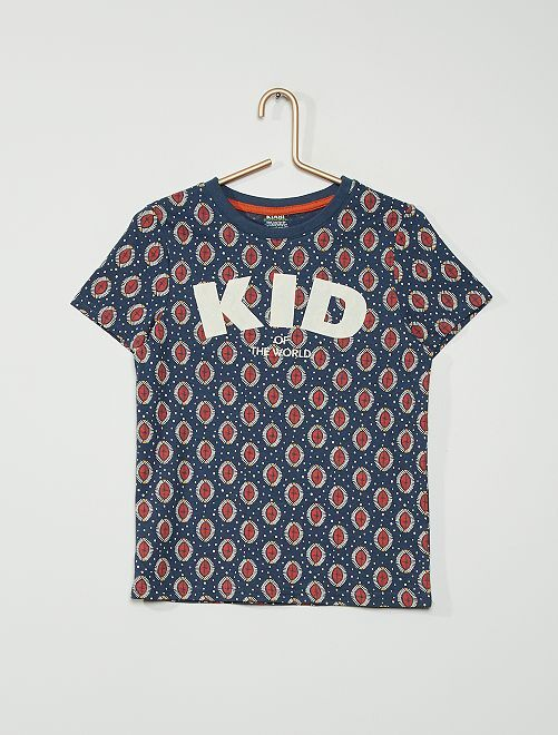 T-shirt coton                                         BLEU