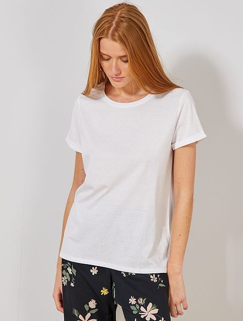 T-shirt coton 'éco-conception'                                                                                                                                                                                                                             blanc