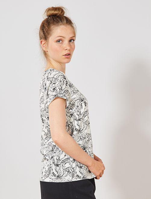 T-shirt coton 'éco-conception'                                                                                                                                                                                                     BLANC Femme
