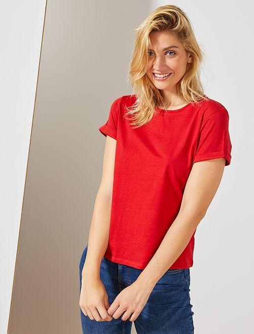 T-shirt coton 'éco-conception'                                                                                                                                                                                                                             rouge