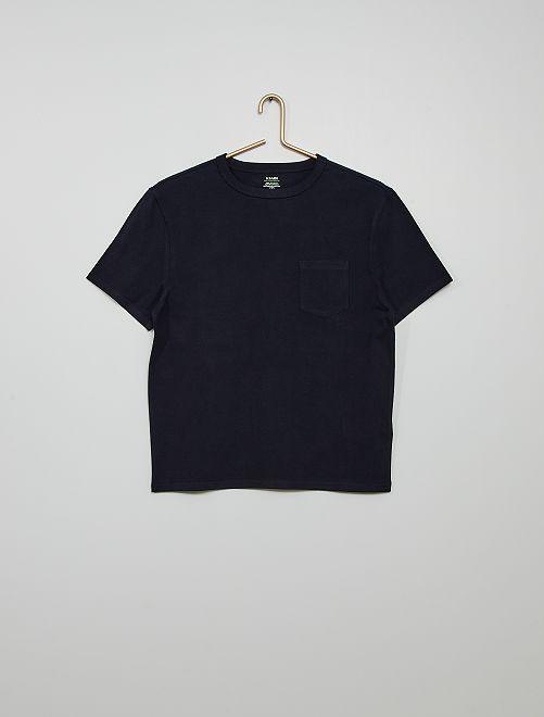 T-shirt coton éco-conçu                                                                                                                             bleu marine