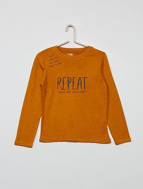 T-shirt coton éco-conçu                                                                                                     jaune
