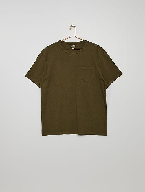 T-shirt coton éco-conçu                                                                                                                             kaki