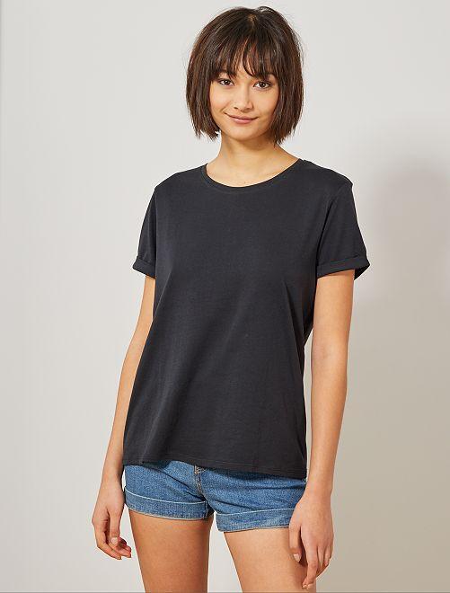 T-shirt coton éco-conçu                                                     noir