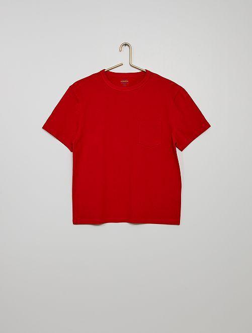 T-shirt coton éco-conçu                                                                                                                             rouge pompier
