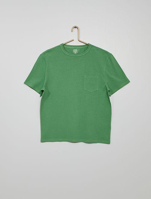 T-shirt coton éco-conçu                                                                                                                             vert