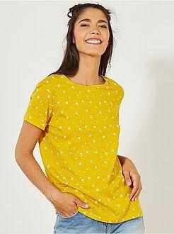 T-shirt manches courtes - T-shirt coton manches courtes - Kiabi