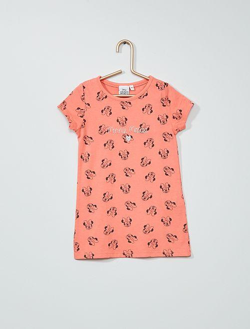 T-shirt coton 'Minnie Mouse' 'Disney'                             rose