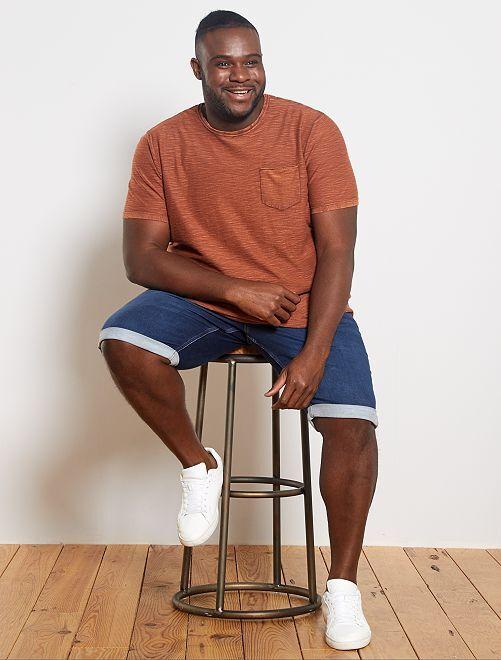 T-shirt coton tetxuré                                         rouille