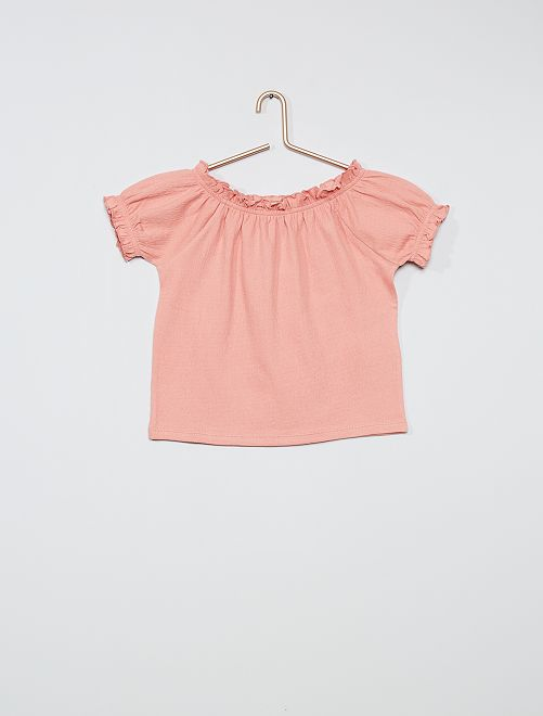 T-shirt crop bardot                                                                                                                 rose