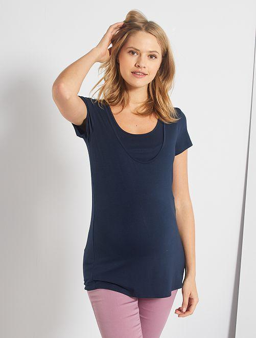 T-shirt d'allaitement 2 en 1                                                                 bleu marine
