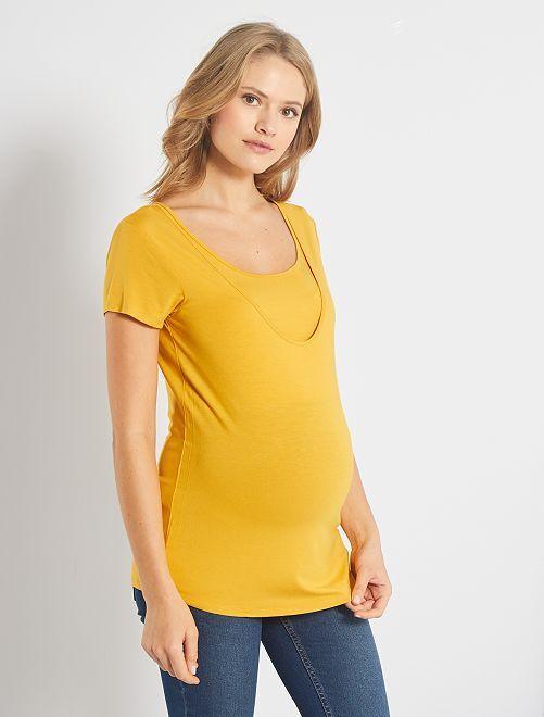 T-shirt d'allaitement 2 en 1                                         JAUNE