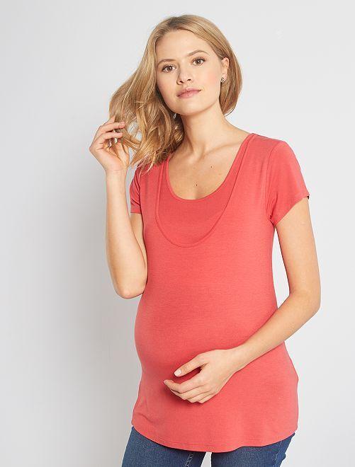 T-shirt d'allaitement 2 en 1                                                                 rouge cerise